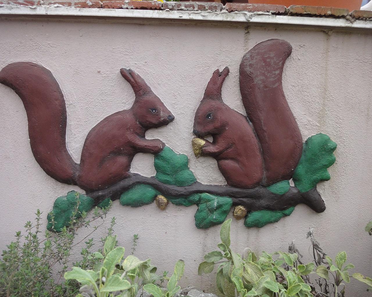 Wandrelief nach Kundenwunsch (Eichhörnchen)